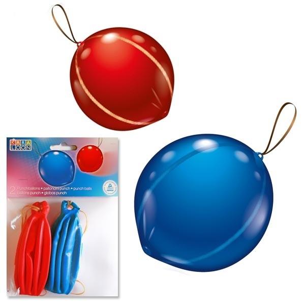 Punch Ballons im 2er Pack mit Gummibändchen, toller Partyspaß, 45 cm